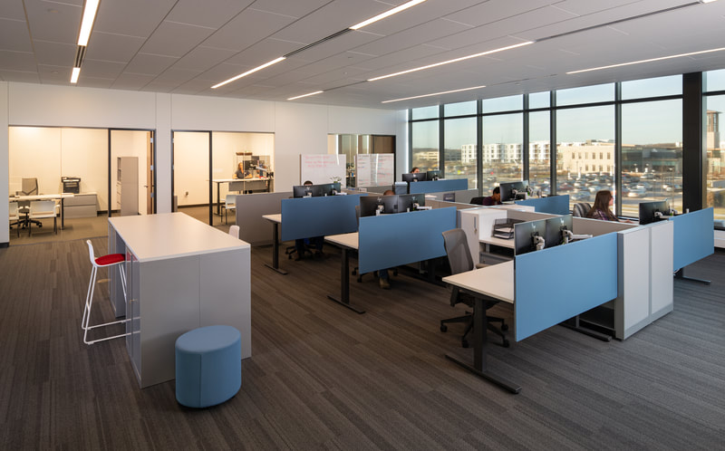 Commerical interior design - office space.